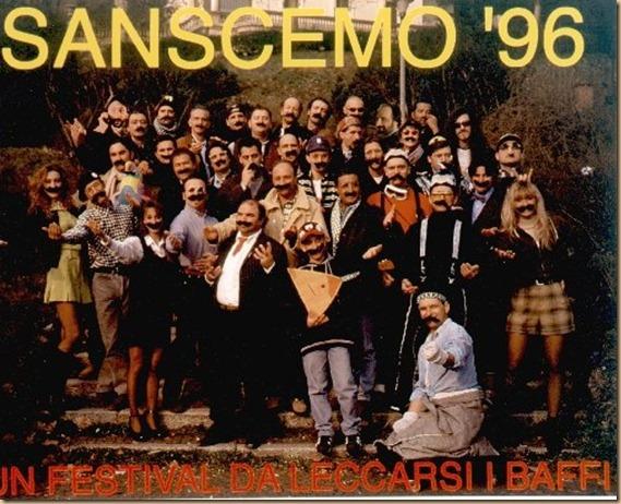 SanScemo 1996 foto di gruppo coi baffi