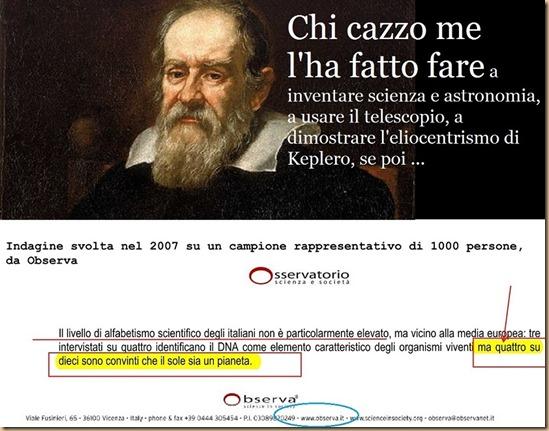 Galileo Galilei - per 4 italiani su 10 il Sole è un pianeta - rapporto Observa 2008 r75