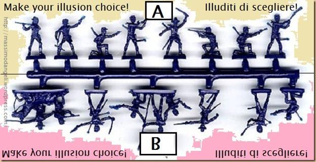 conformismo ILLUSIONE di aver scelto - the illusion of making a choice - conformism - stampo 3