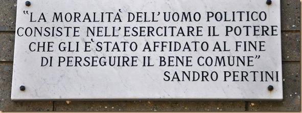 Moralità del politico è usare potere x il bene comune - Sandro Pertini
