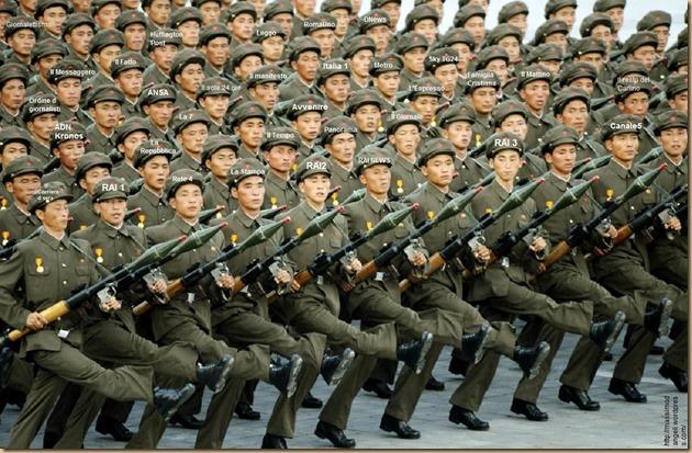 media italiani PEGGIO d esercito-nord-coreano