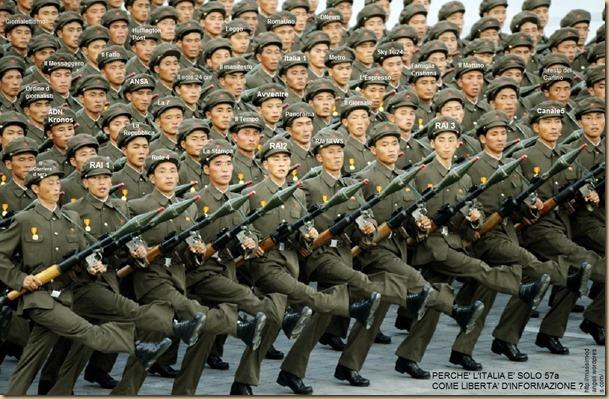 media italiani PEGGIO d esercito-nord-coreano 57 disinformazione censura media giornalisti