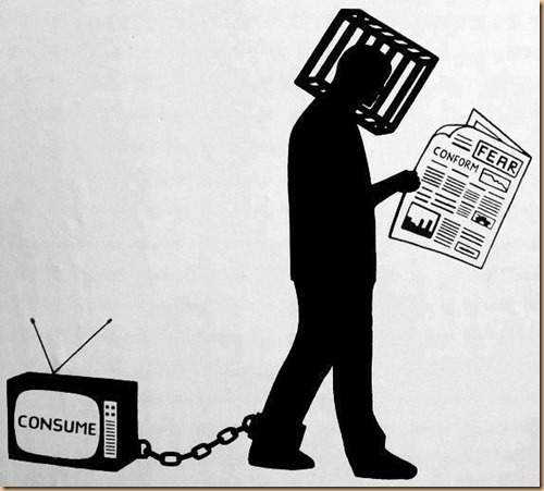 TV consume conform fear