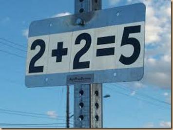 2 plus 2 equal 5
