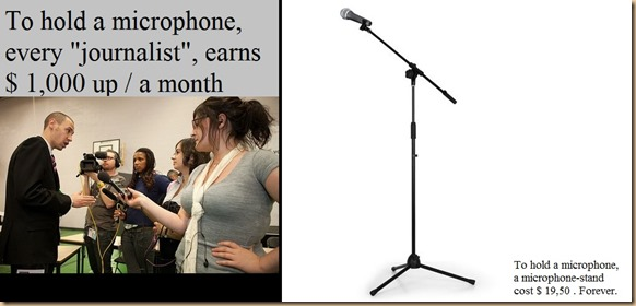 journalists VS microphone stand