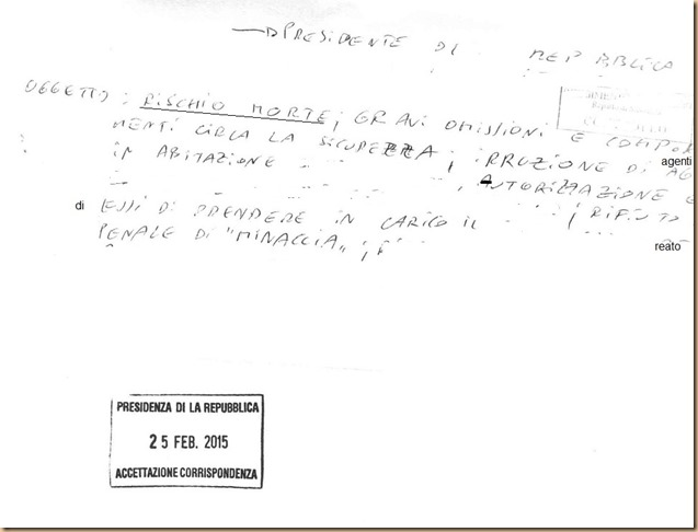lettera al quotidiano La Repubblica