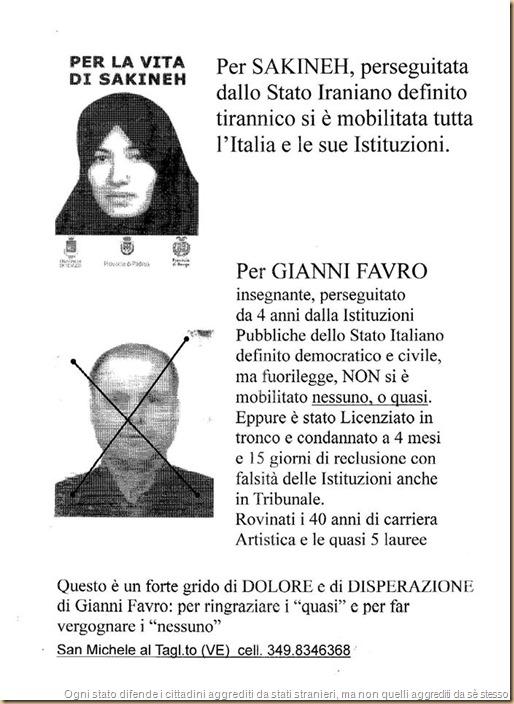 se uno è vittima dello Stato italiano non esiste - Favro