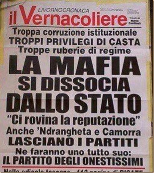 La mafia si dissocia dallo Stato - Il Vernacoliere