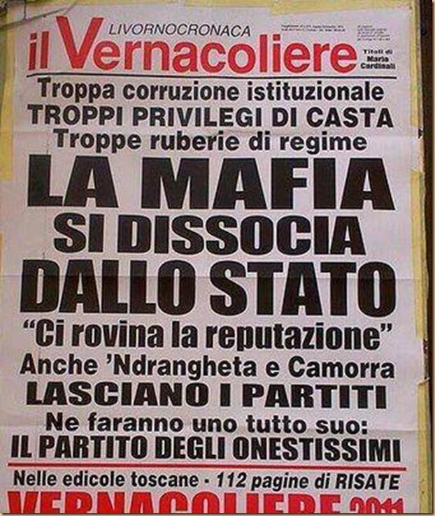 La mafia si dissocia dallo stato - vernacoliere
