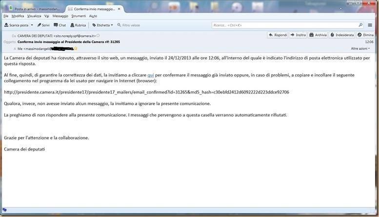 3- Boldrini omertosa Ricevuta email 31625