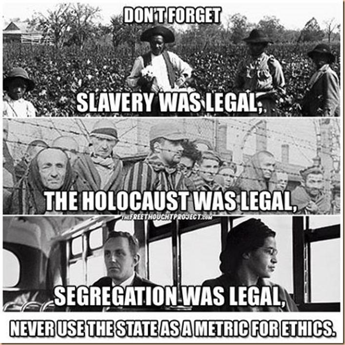 erano legali Schiavitù Olocausto Segregazione