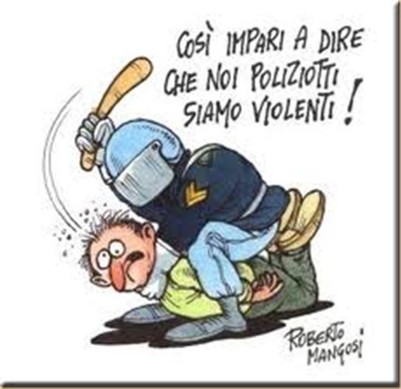 Mangosi polizia violenta