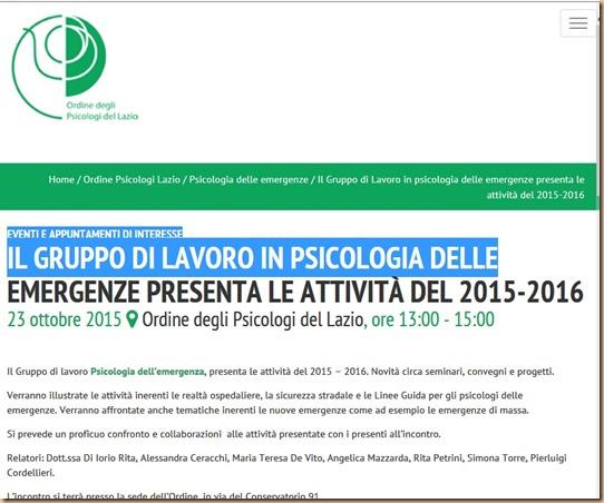 ps emergenza Lazio - farsa