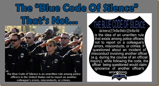 Blue code of silence 1