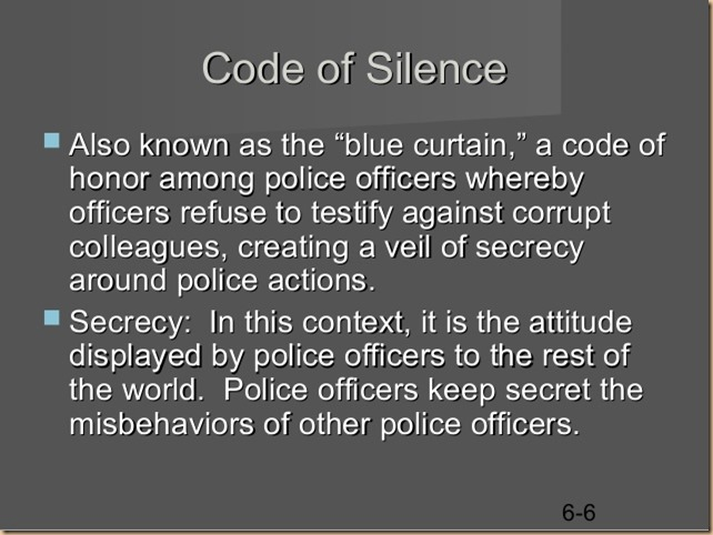 Blue code of silence 3