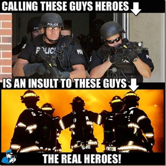 cops VS firefighter