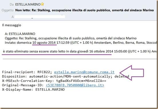 E.Marino elimina messaggi urgenti SENZA leggerli Ago-Ott 2014