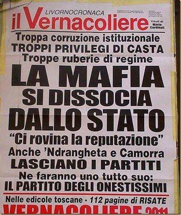 La mafia si dissocia dallo stato 2 - vernacoliere