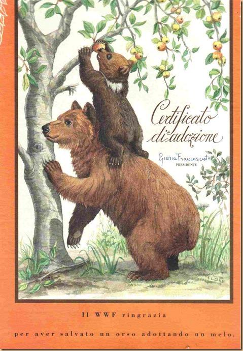 WWF Orso adozione