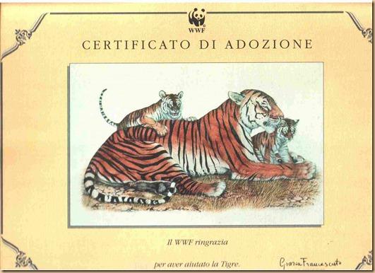 WWF Tigre adozione