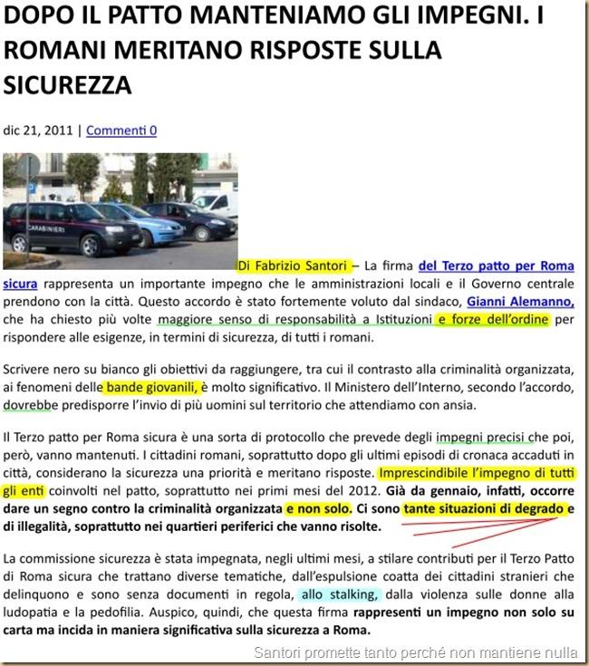 3 Patto Roma sicura - farsa Santori