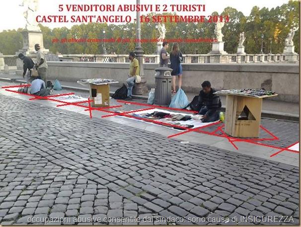 5 venditori abusivi Castel S. Angelo