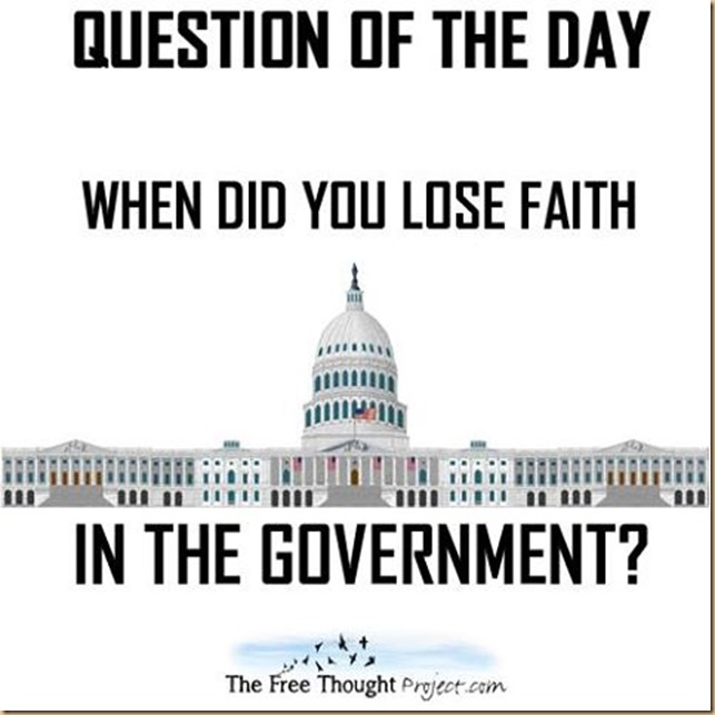 loosing faith in the government
