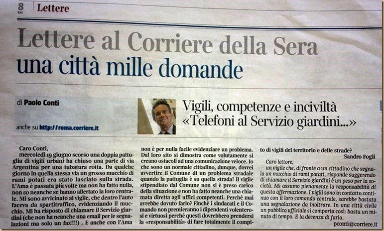 vigili citati su Corriere della Sera - un peso per la società 2b